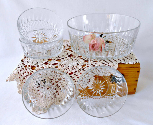 Arcoroc Tempered Crystal Serving Bowls