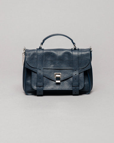 Proenza Schouler PS1 Medium Navy Leather Bag