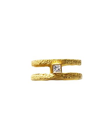 ELHANATI ROXY FINE GRAPHIC RING WITH DIAMOND