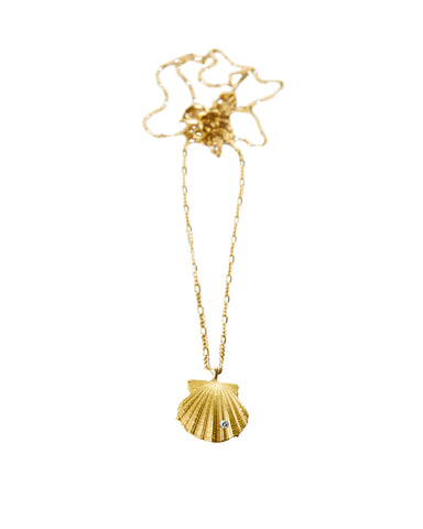 Elhanati Wave Shell Necklace Plain
