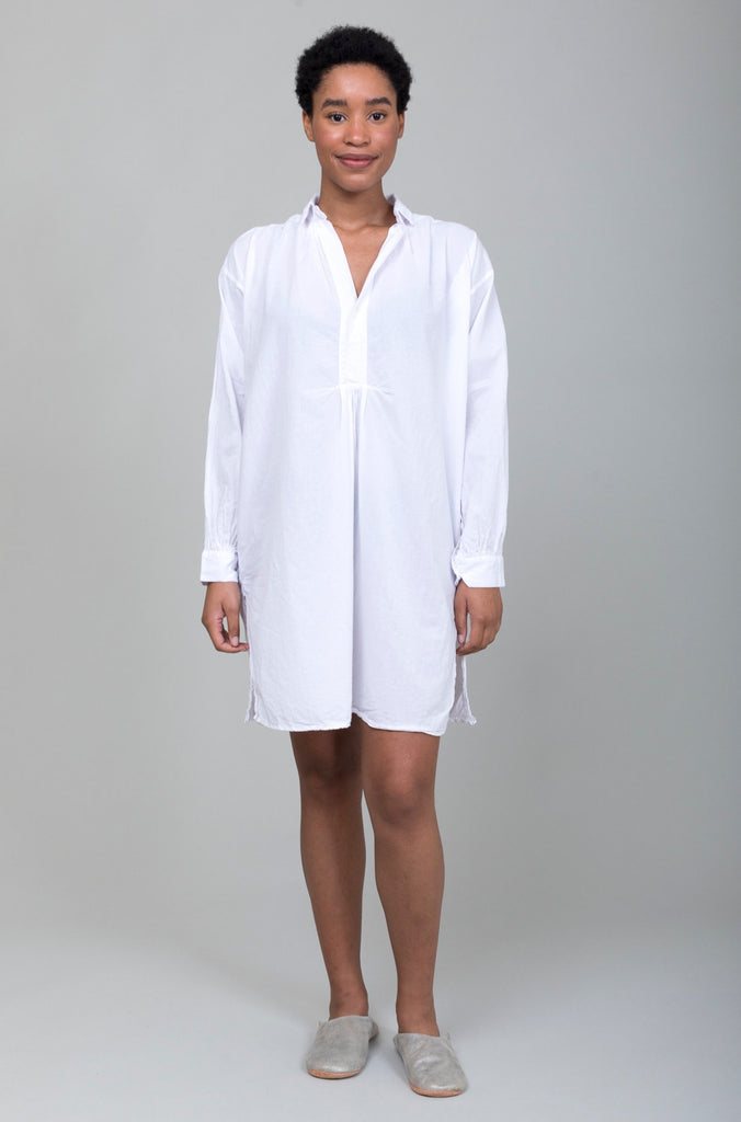 Domi Sleepwear - Organic Cotton Nightshirt - White - Verdalina