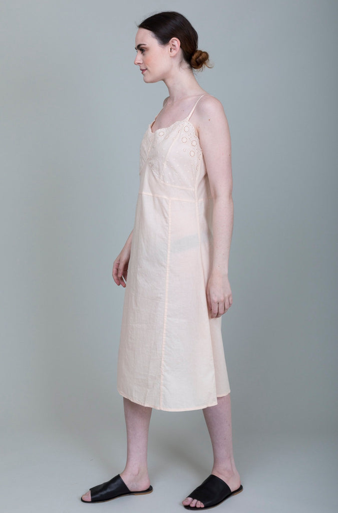 Domi Sleepwear - Slip with Embroidery- Blush - Verdalina