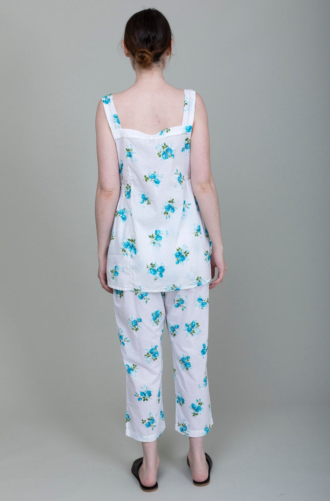 Domi Sleepwear - Chemise and Pant Set - Azure - Verdalina