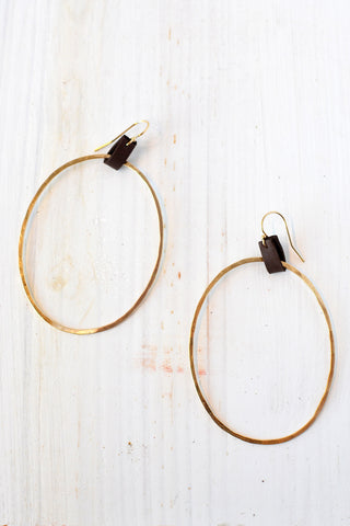 Wavy Ribbon Hoops
