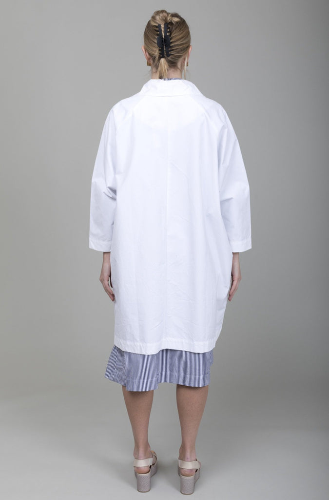 Gallego Desportes - Raglan Sleeves Coat - White - Verdalina