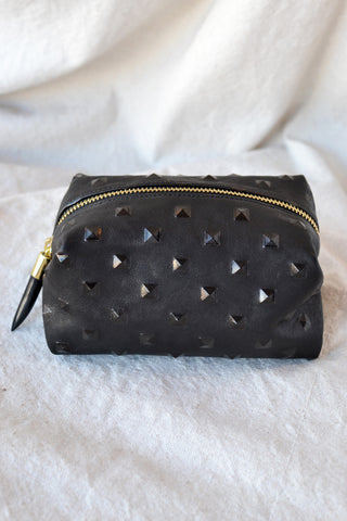 Woven Leather Wallet - Black