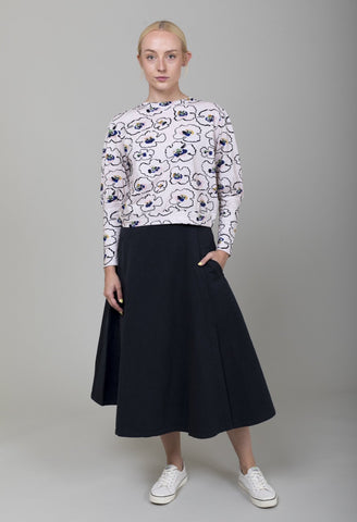 Pleated Skirt - Ecru