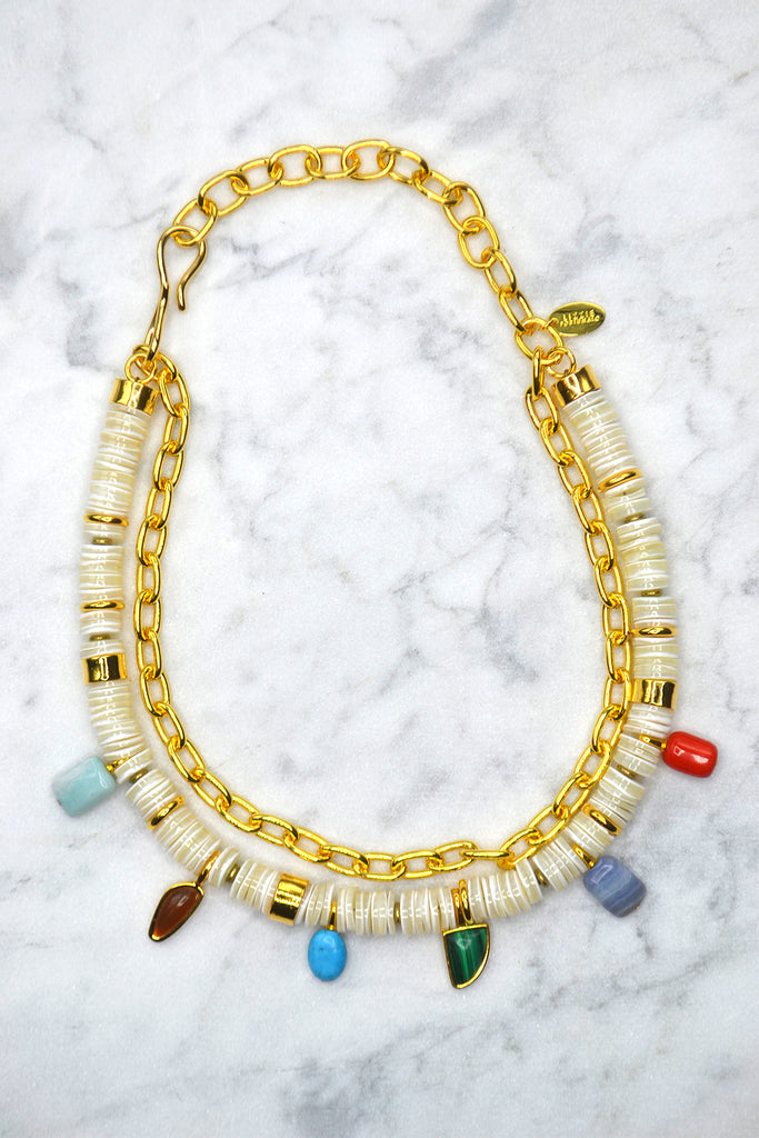 Lizzie Fortunato - Form and Color Necklace - Verdalina