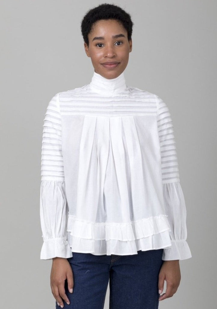 Mille - Anabel Blouse - Pearl - Verdalina