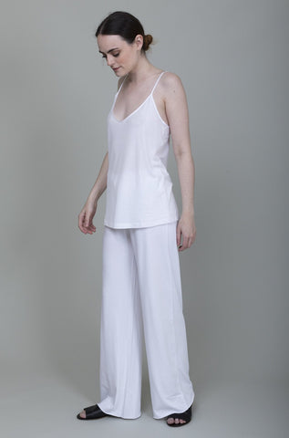 Wool Aze Pants - Ivory