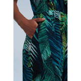 Green jumpsuit printed jungle