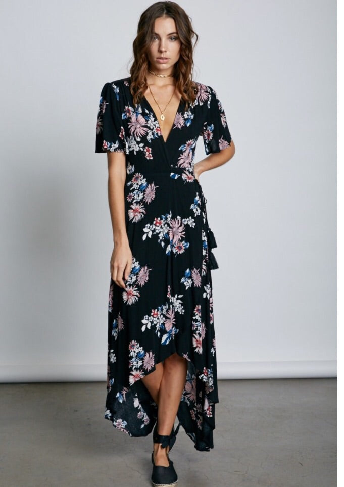 Just A Girl Wrap Dress