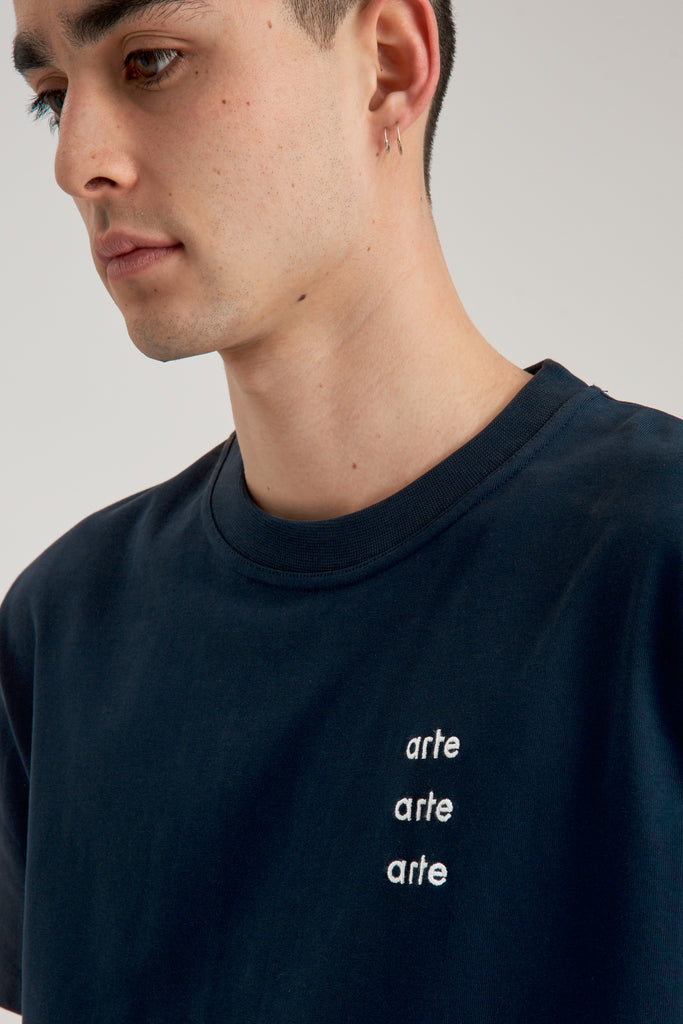 Thomas Multi Logo Navy T-shirt - Arte Antwerp