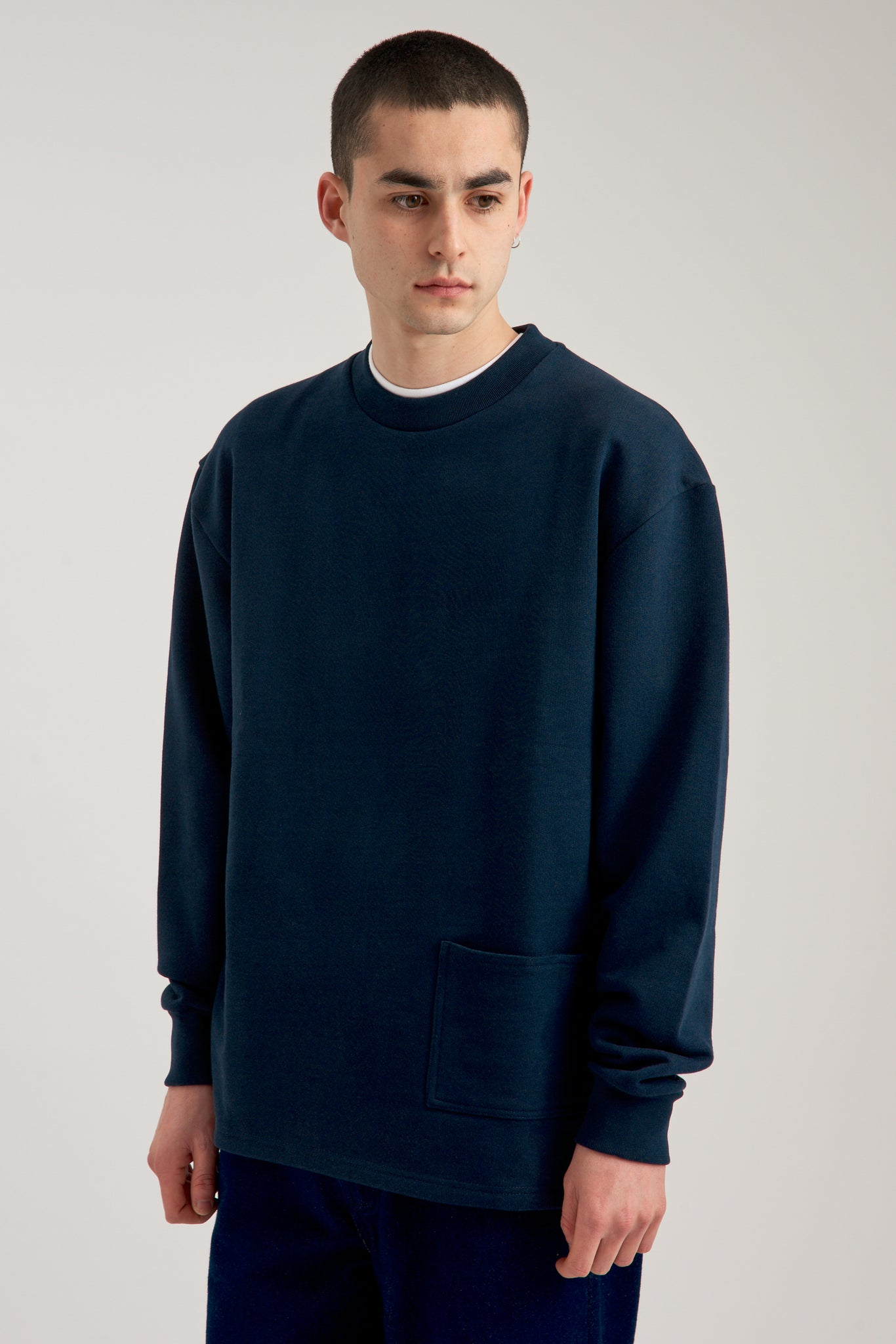 Charles Pocket Navy Sweater - Arte Antwerp