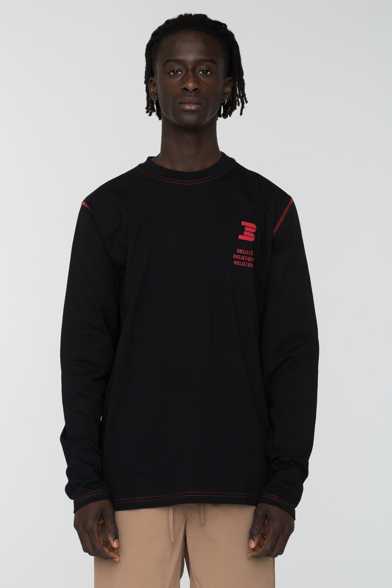 Long Sleeve België Black
