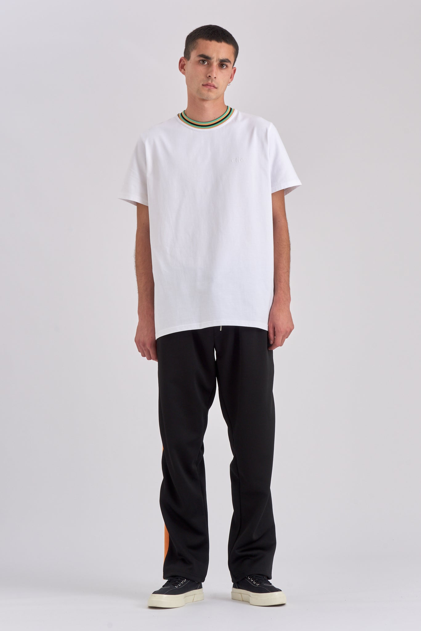 Tyler Collar White T-shirt - Arte Antwerp