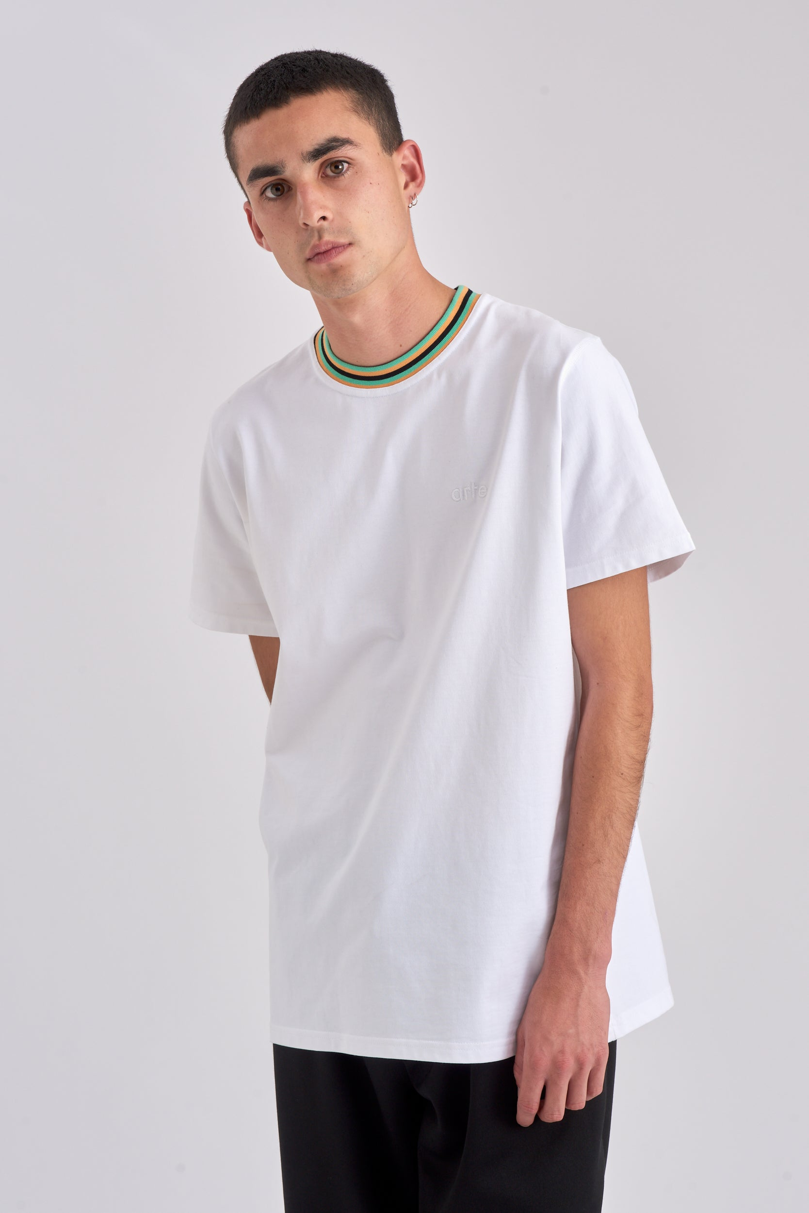 Tyler Collar White T-shirt