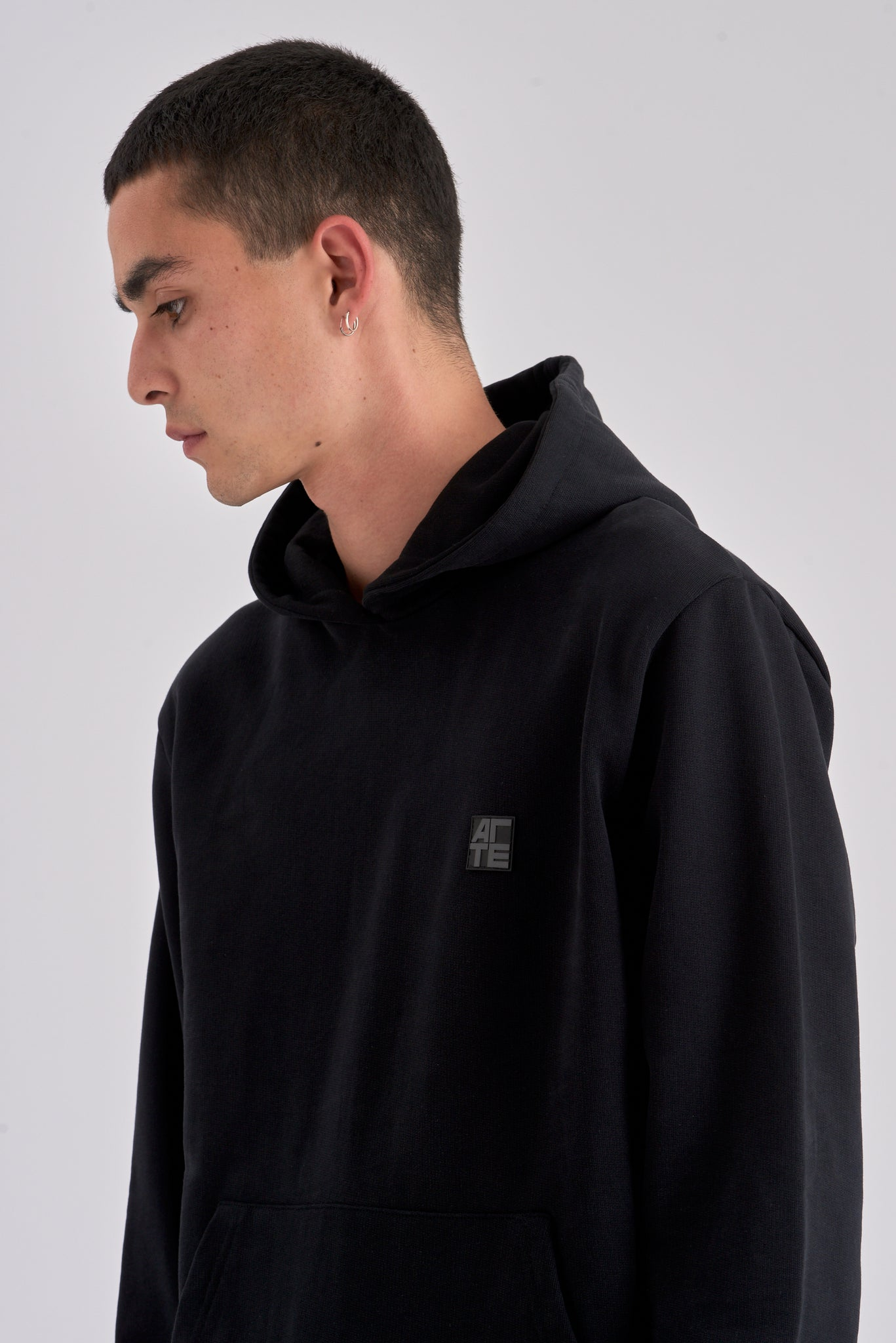 Hunter Patch Black Hoodie - Arte Antwerp