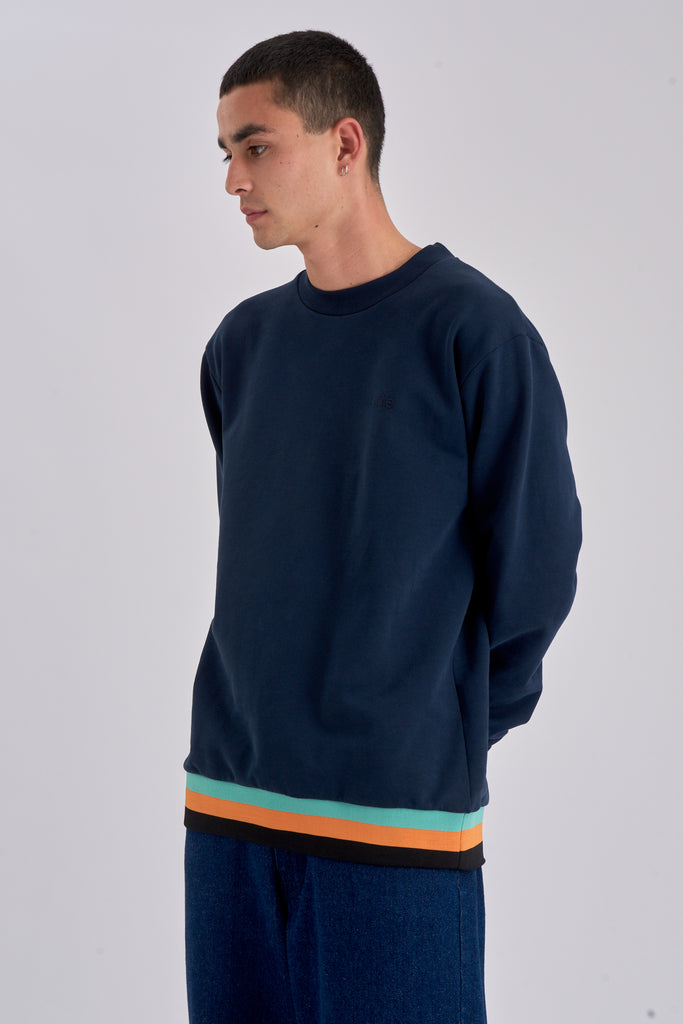 Collin Navy Sweater - Arte Antwerp