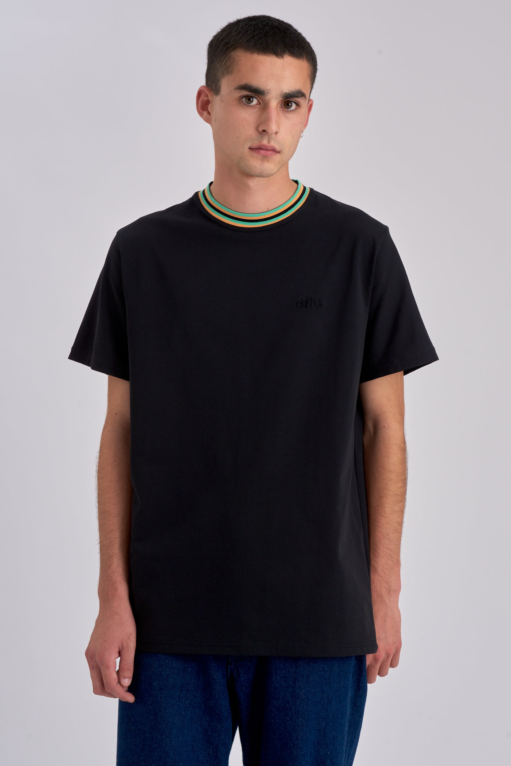 Tyler Collar Black T-shirt