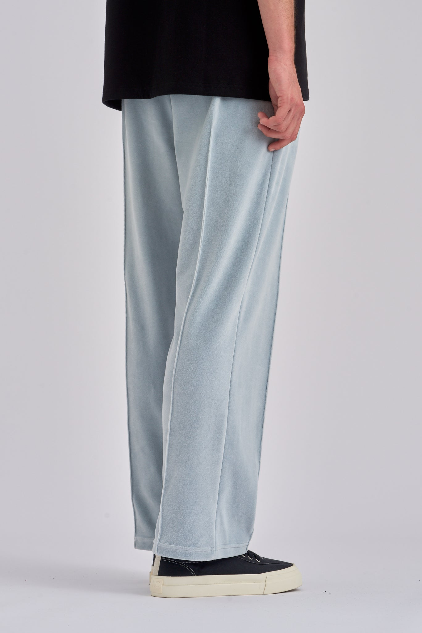 Packer Light Grey Velvet Pants - Arte Antwerp