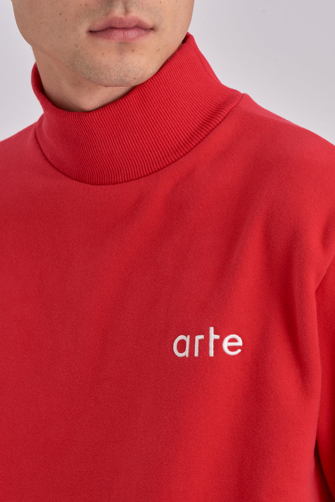 Carter Red Turtleneck - Arte Antwerp