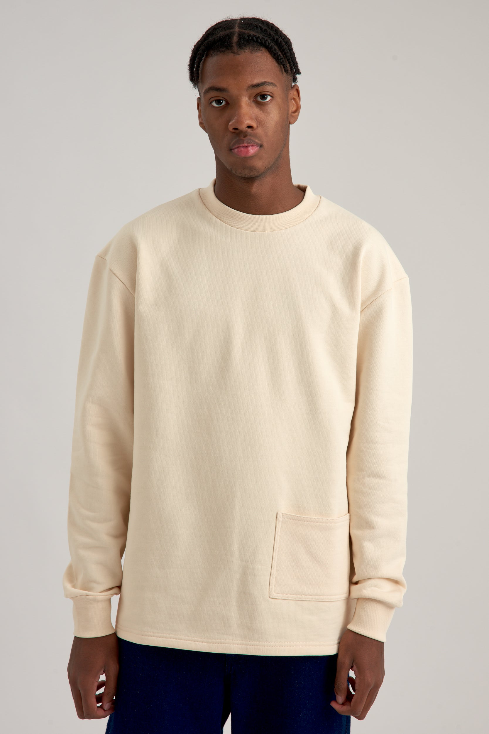 Charles Pocket Cream Sweater