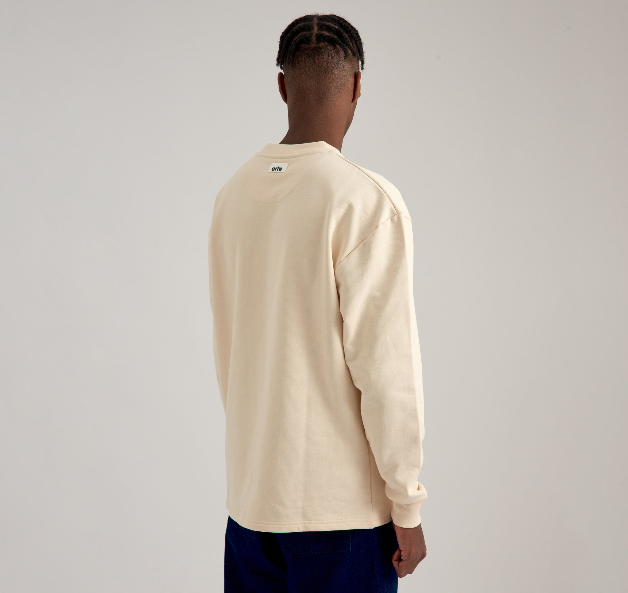 Charles Pocket Cream Sweater - Arte Antwerp