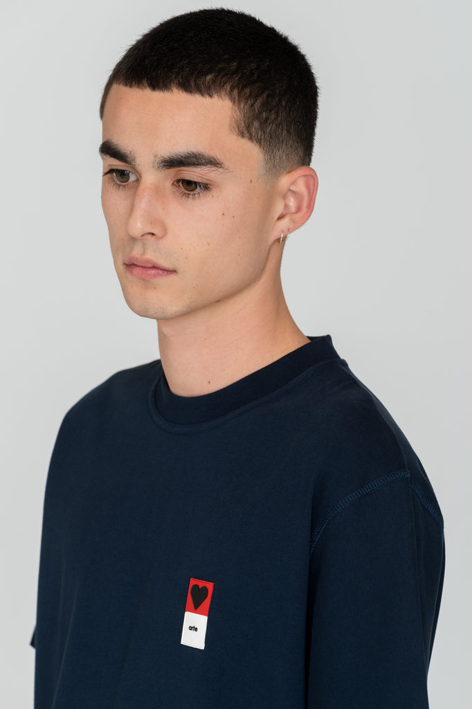 Troy Heart Patch Navy - Arte Antwerp