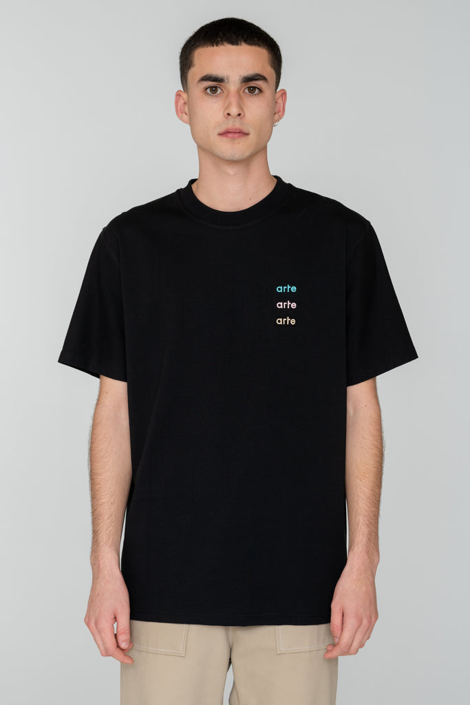Troy Multi Logo T-shirt Black
