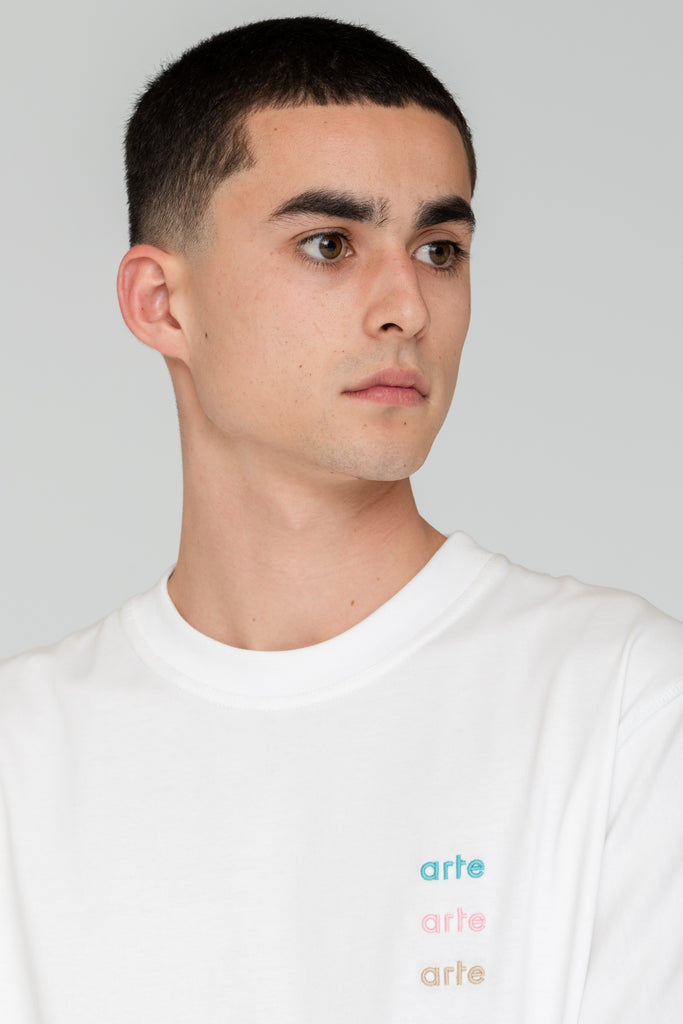 Troy Multi Logo T-shirt White - Arte Antwerp