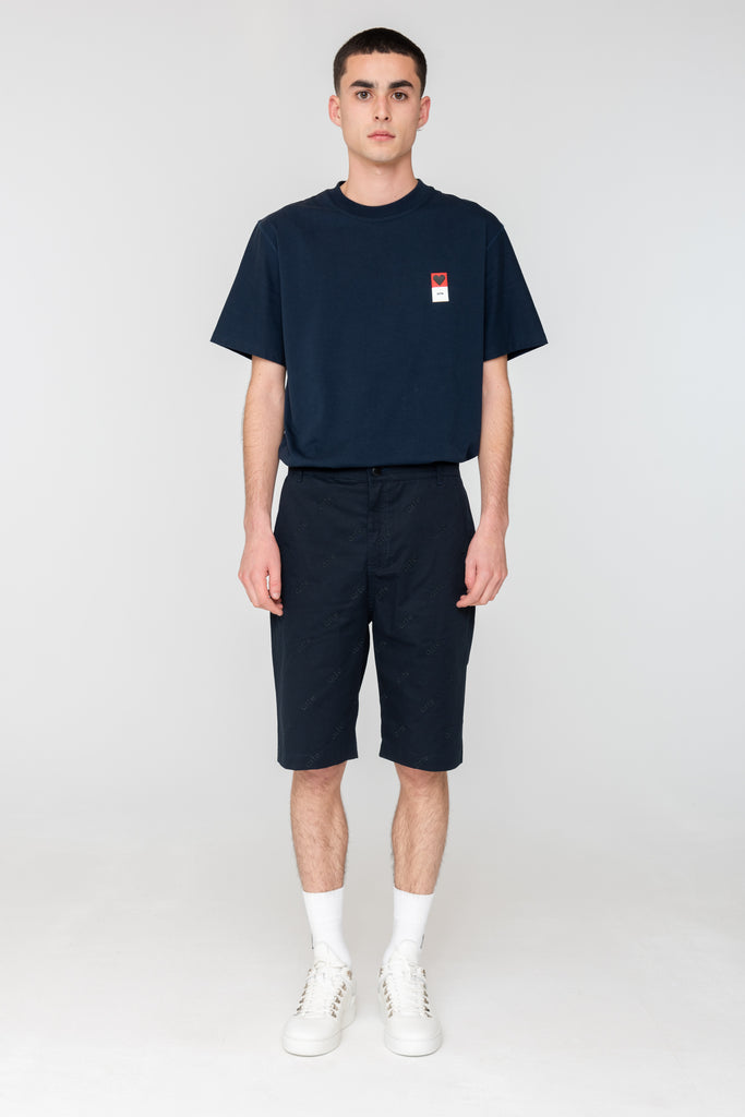 Pudwell LOGO SHORTS Navy - Arte Antwerp