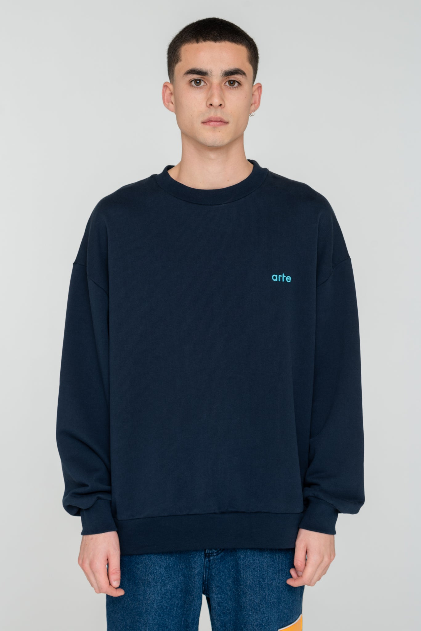 Caleb Navy Sweater