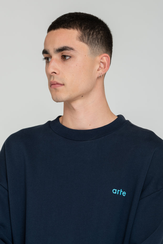 Caleb Navy Sweater - Arte Antwerp