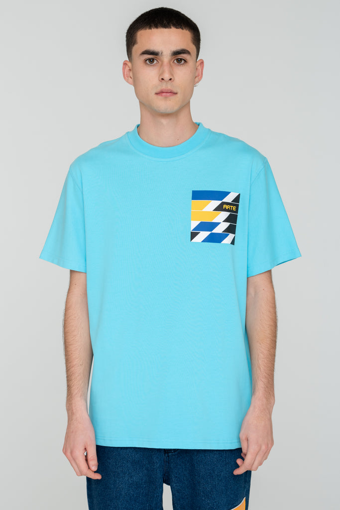 Troy Artwork Blue T-shirt - Arte Antwerp