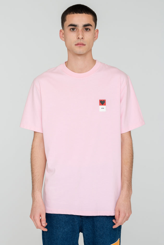 Troy Heart Patch Pink T-shirt - Arte Antwerp