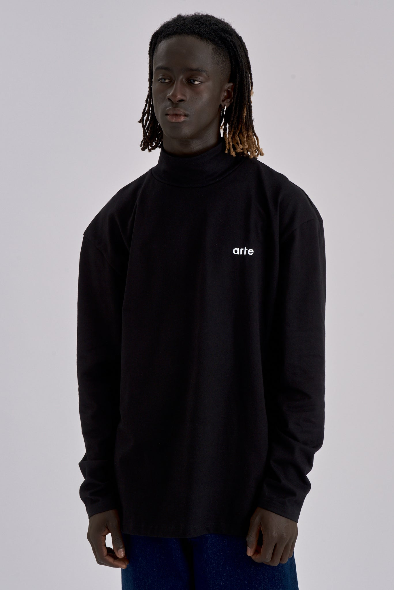 Tate Black Long-sleeve Turtleneck - Arte Antwerp