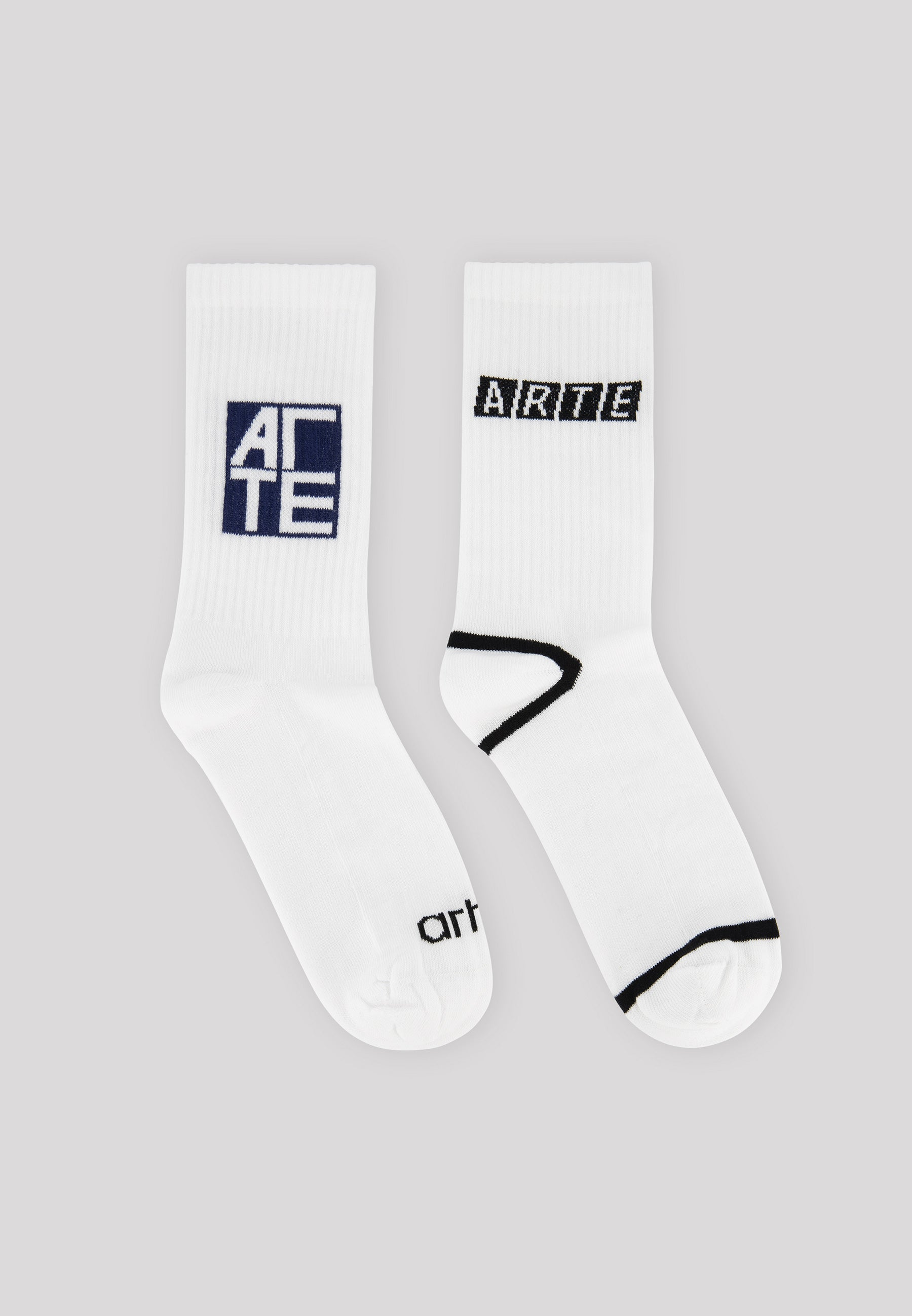 Fiat & Square Logo Socks 2-Pack White