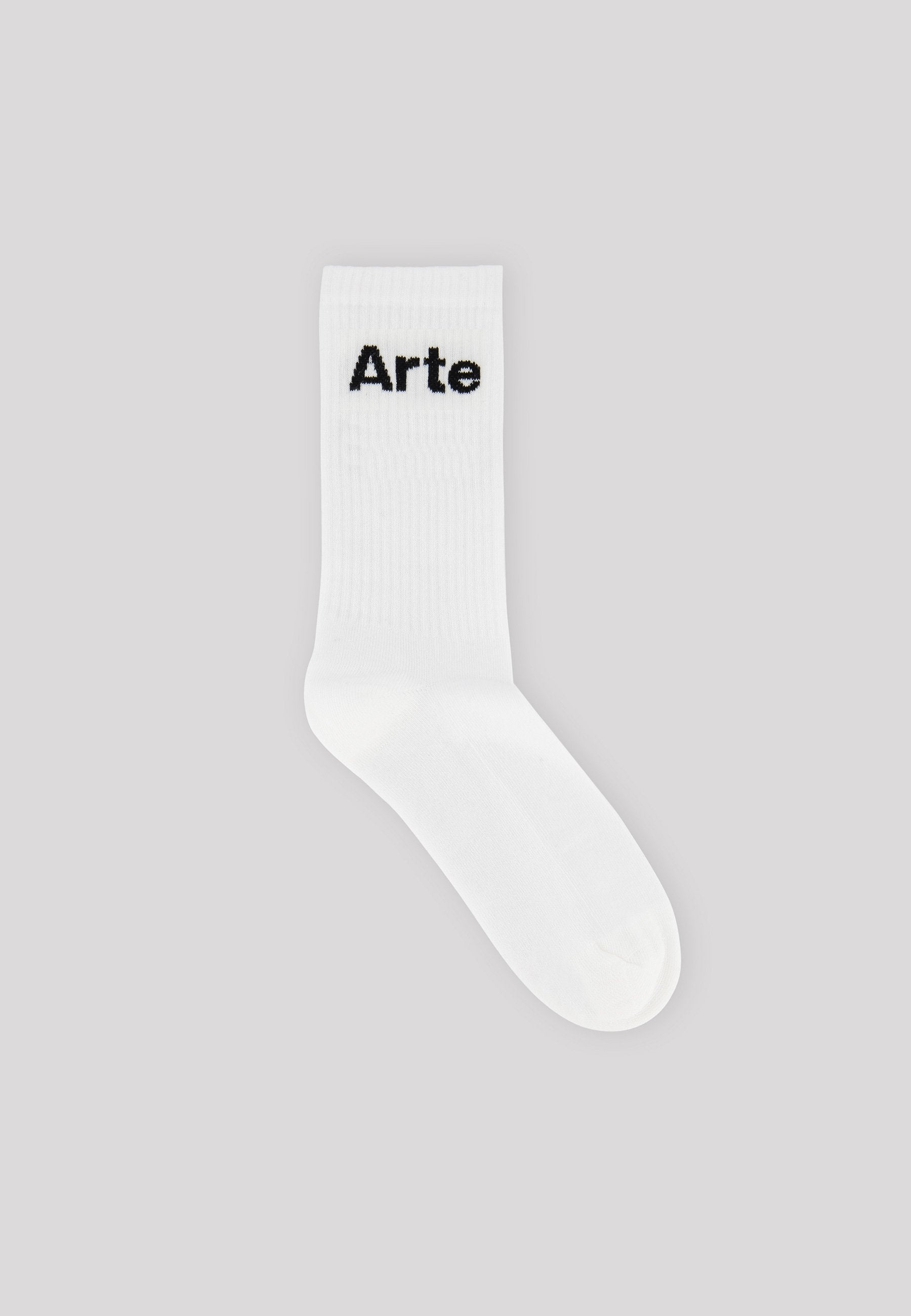 Essential Small Logo Socks - White