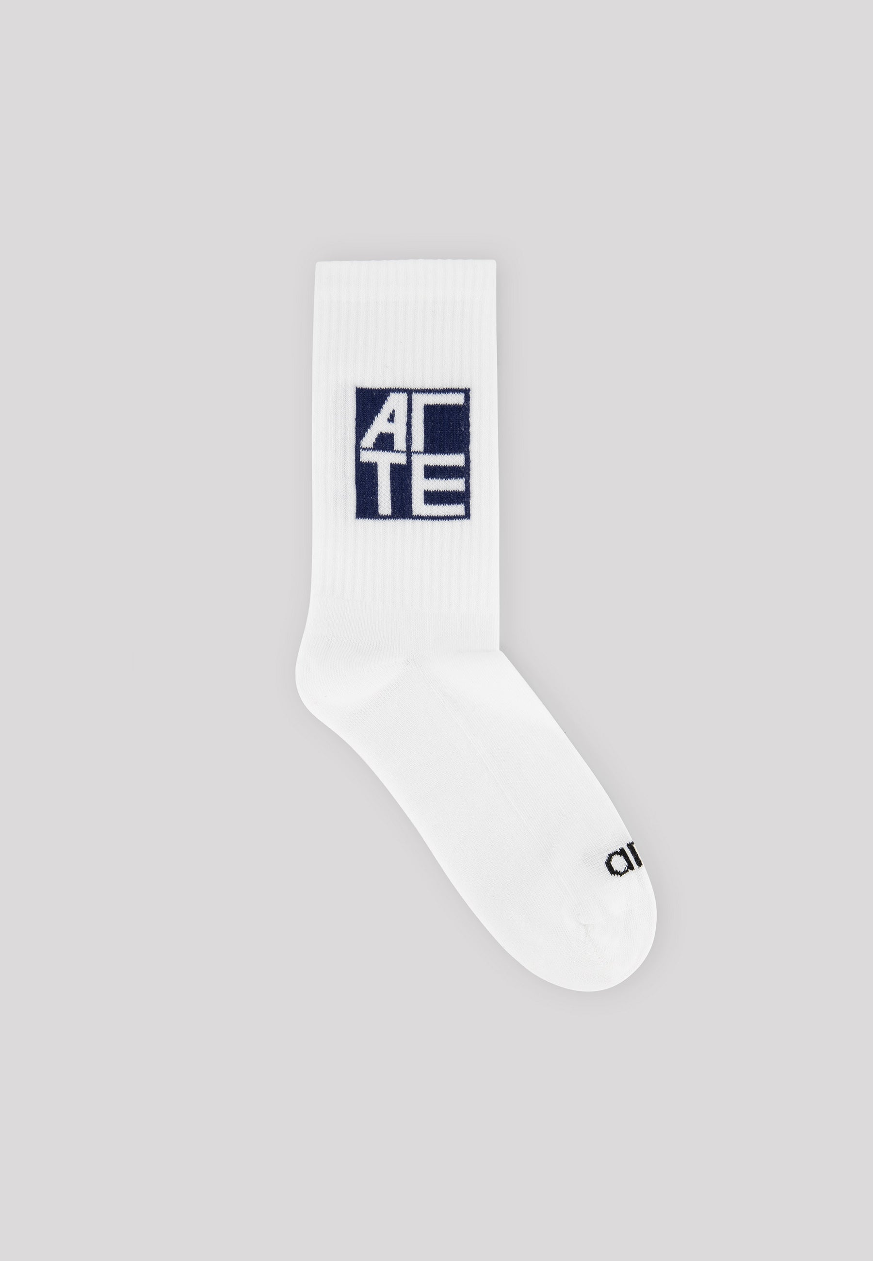 Square Logo Socks White/Navy