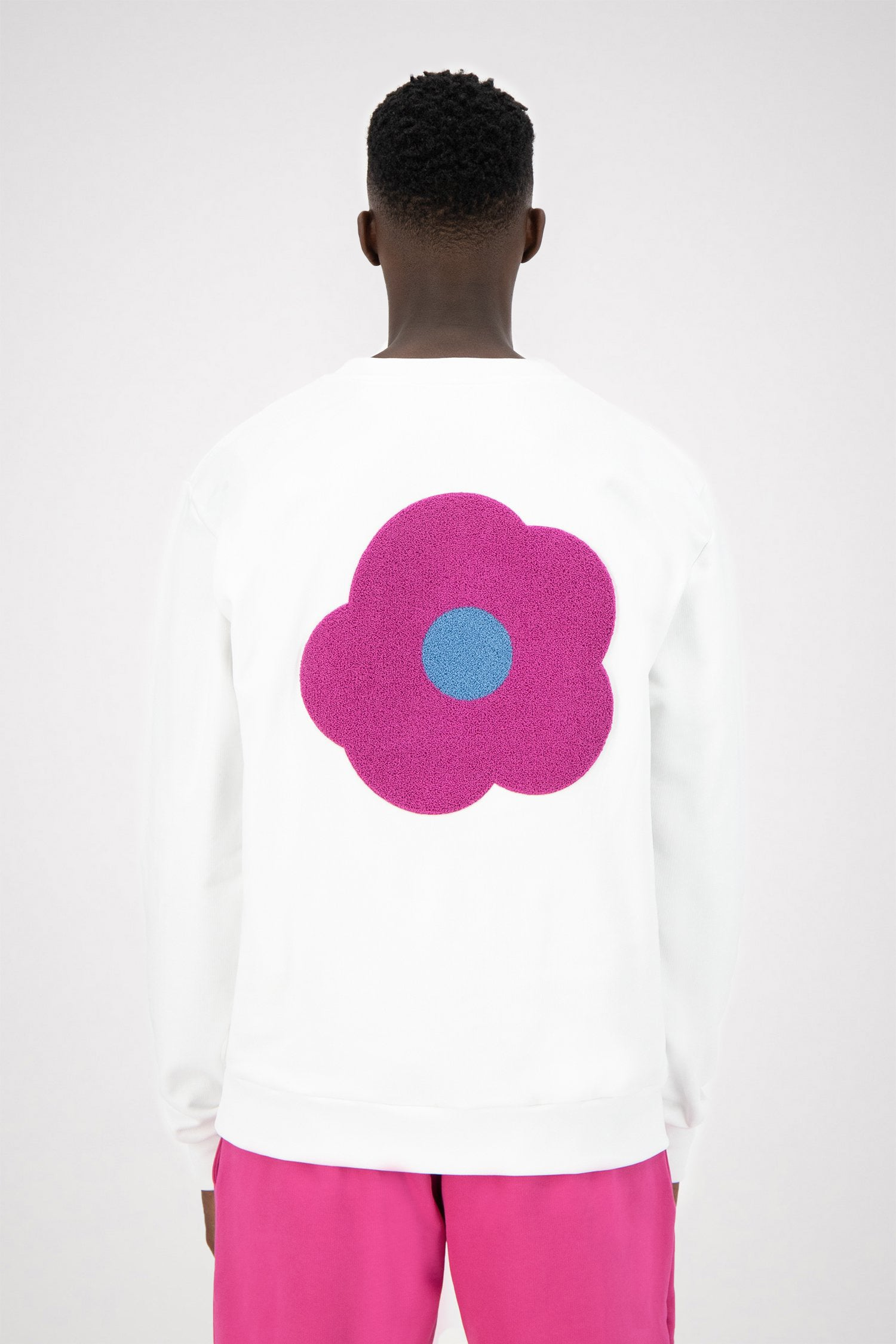 Colson Back Rosa Sweater - White