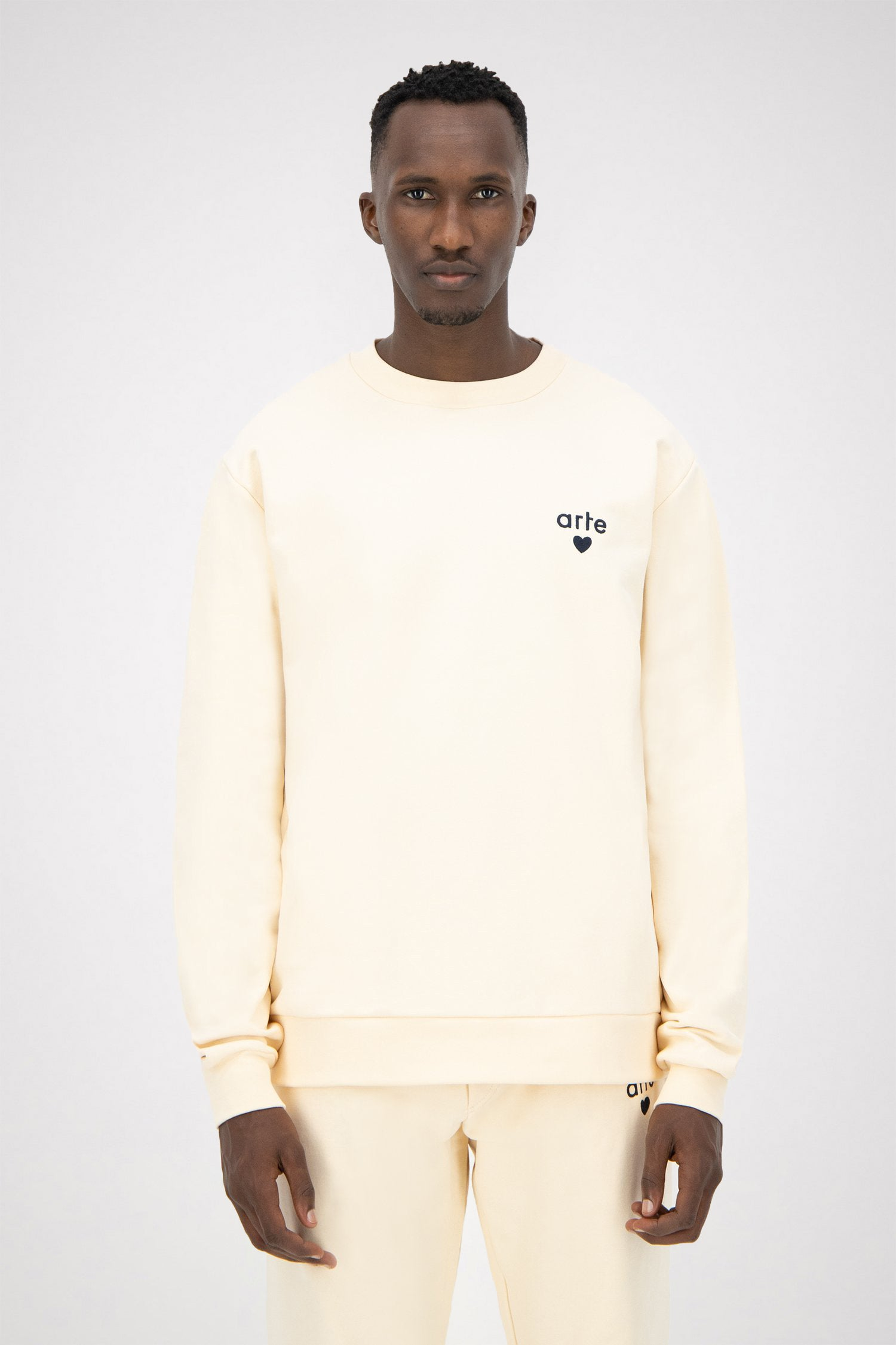 Colson Heart Sweater - Creme