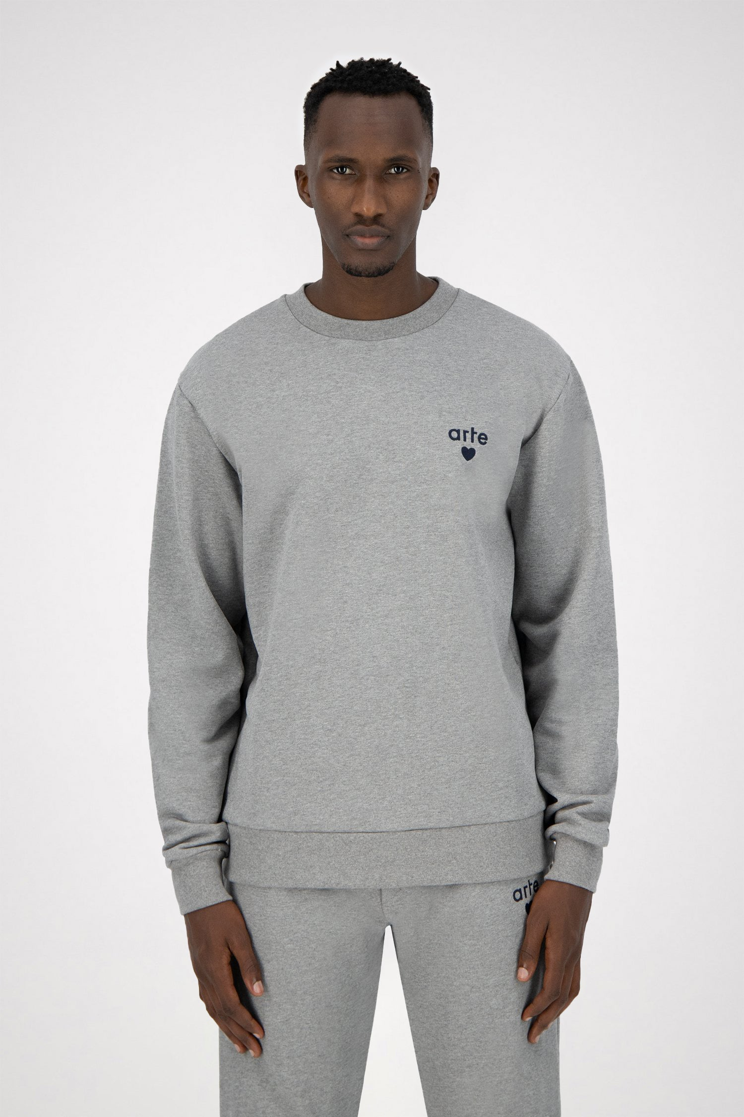 Colson Heart Sweater - Grey