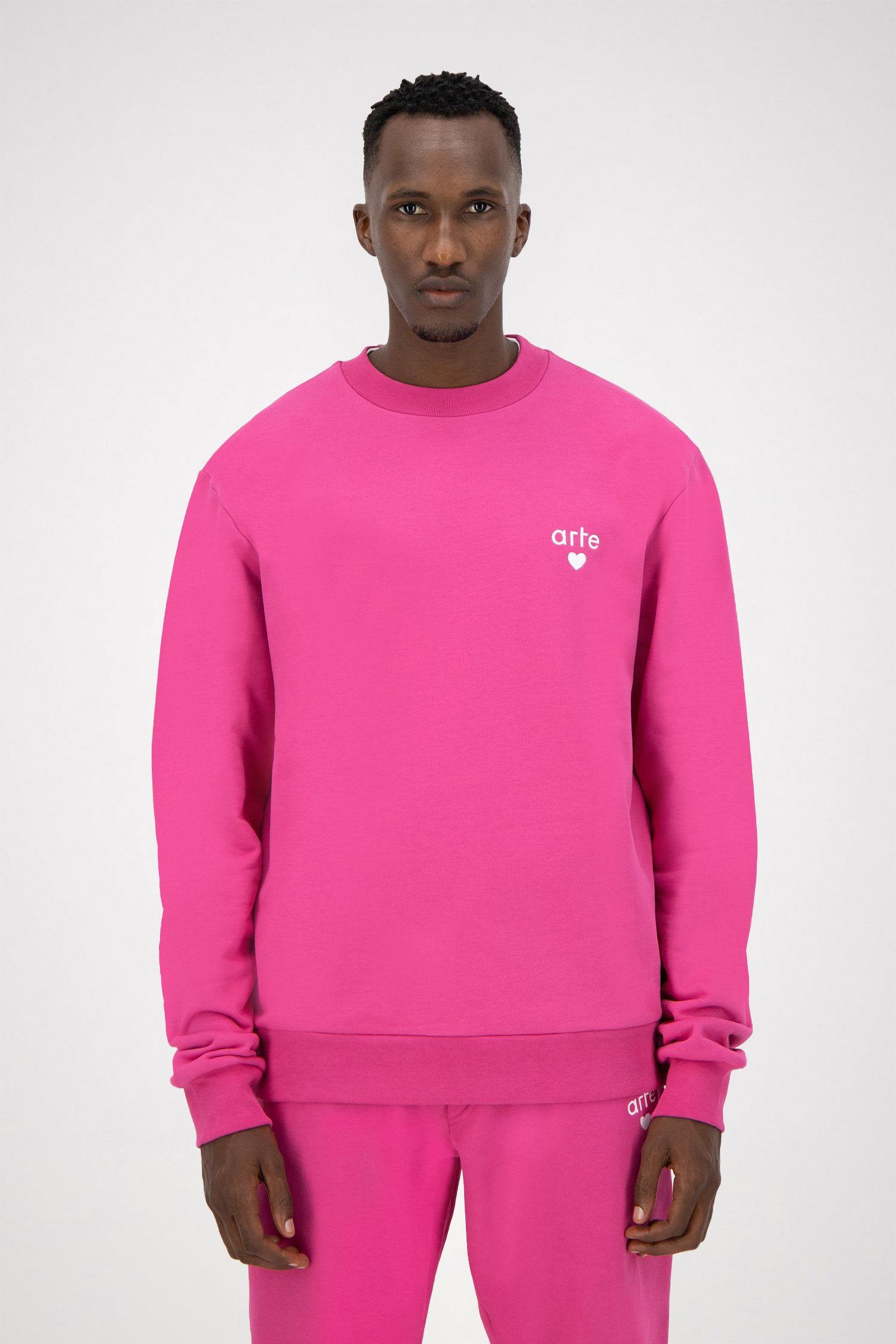 Colson Heart Sweater - Pink