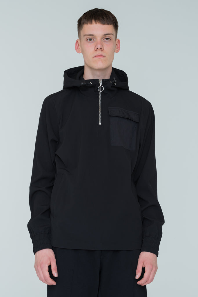 Jacob Popover Jacket Black