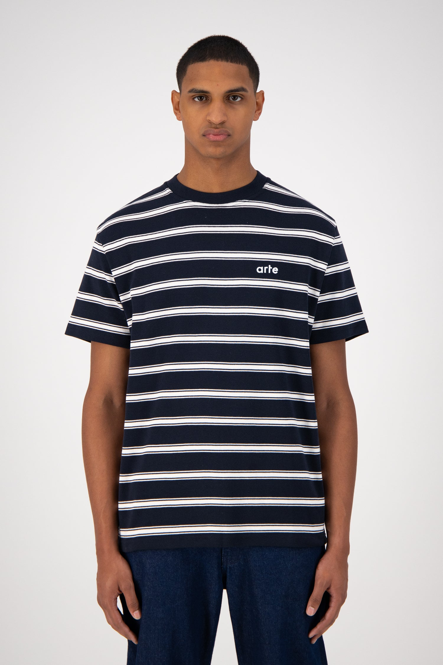 Tino T-shirt - Navy Striped