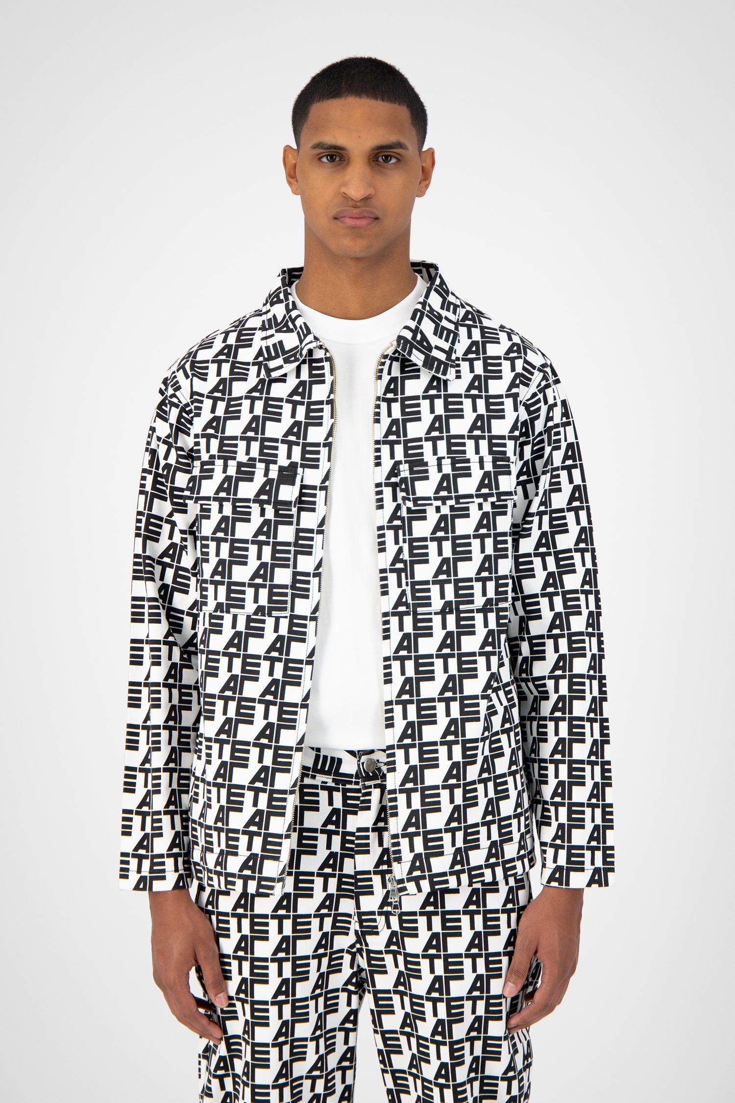 Jack Jacket - Allover White/Black