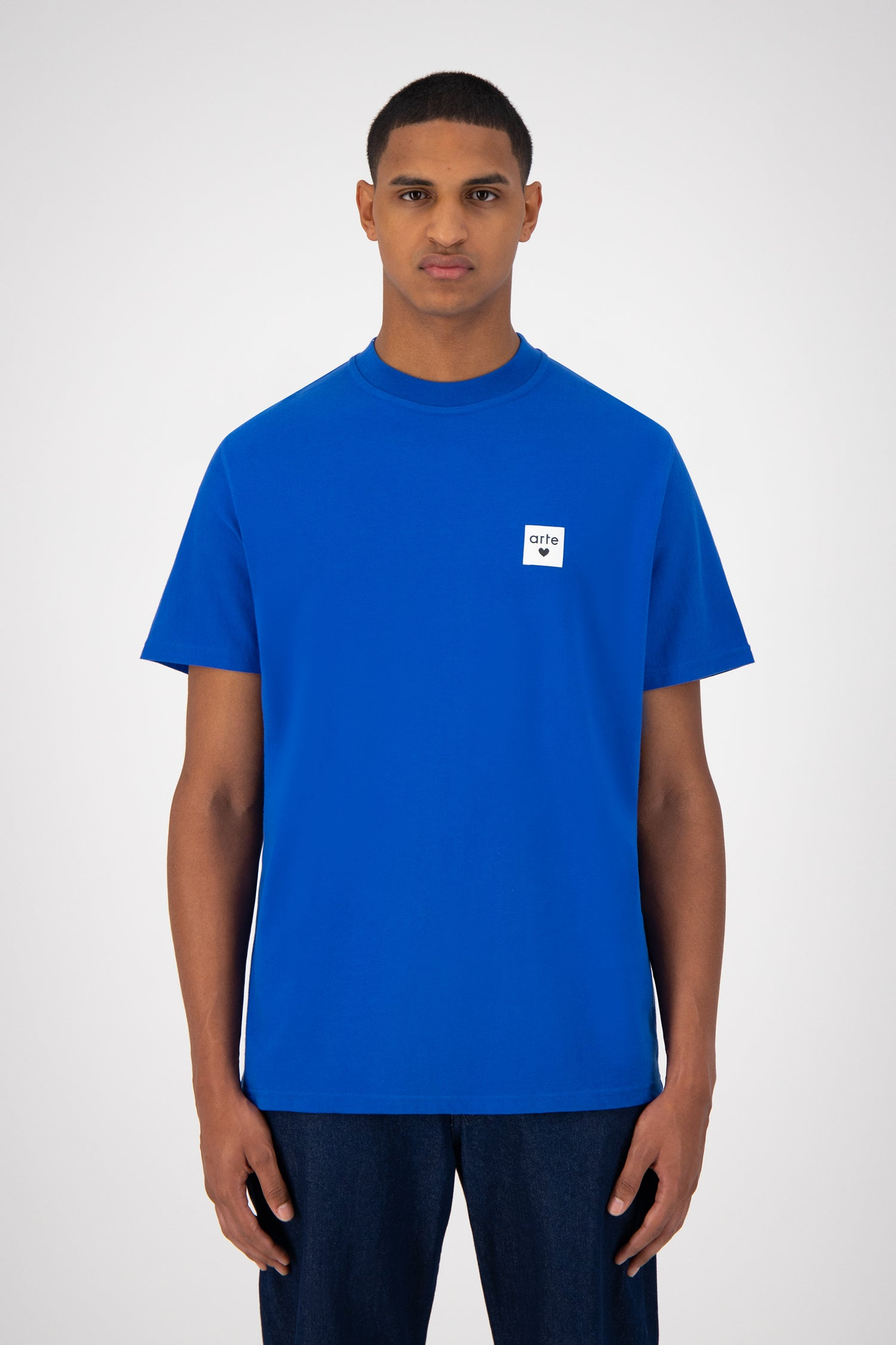 Toby Heart Label T-shirt - Royal Blue