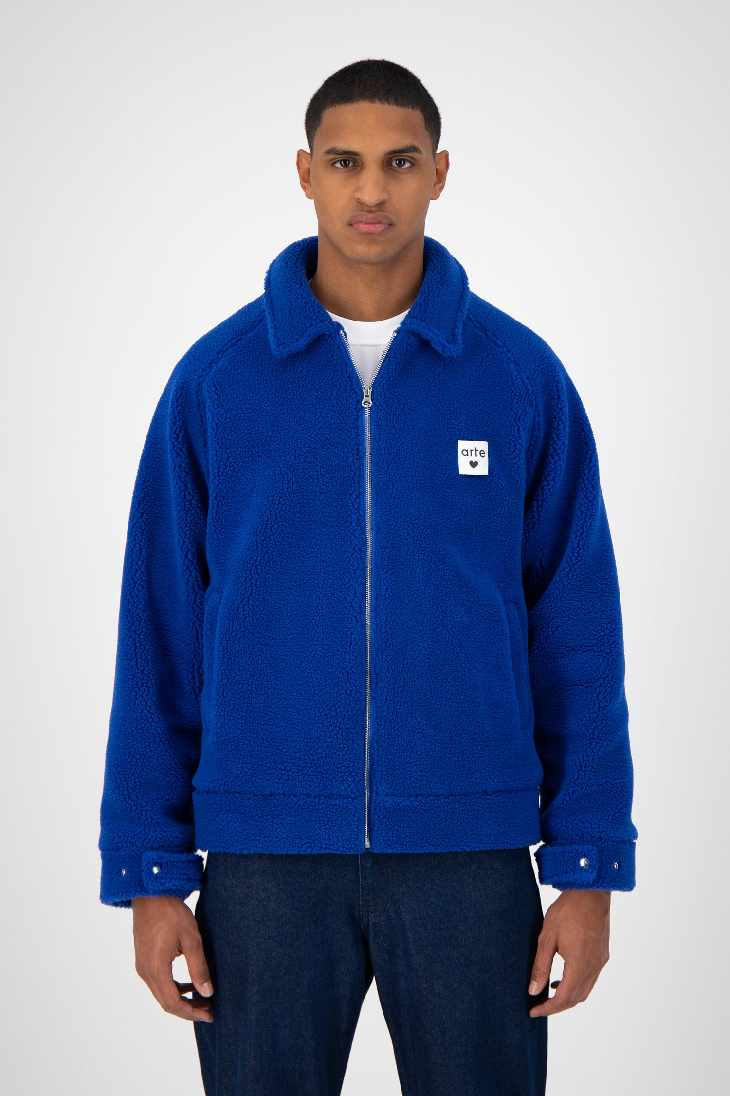 Jake Sherpa Jacket - Royal Blue