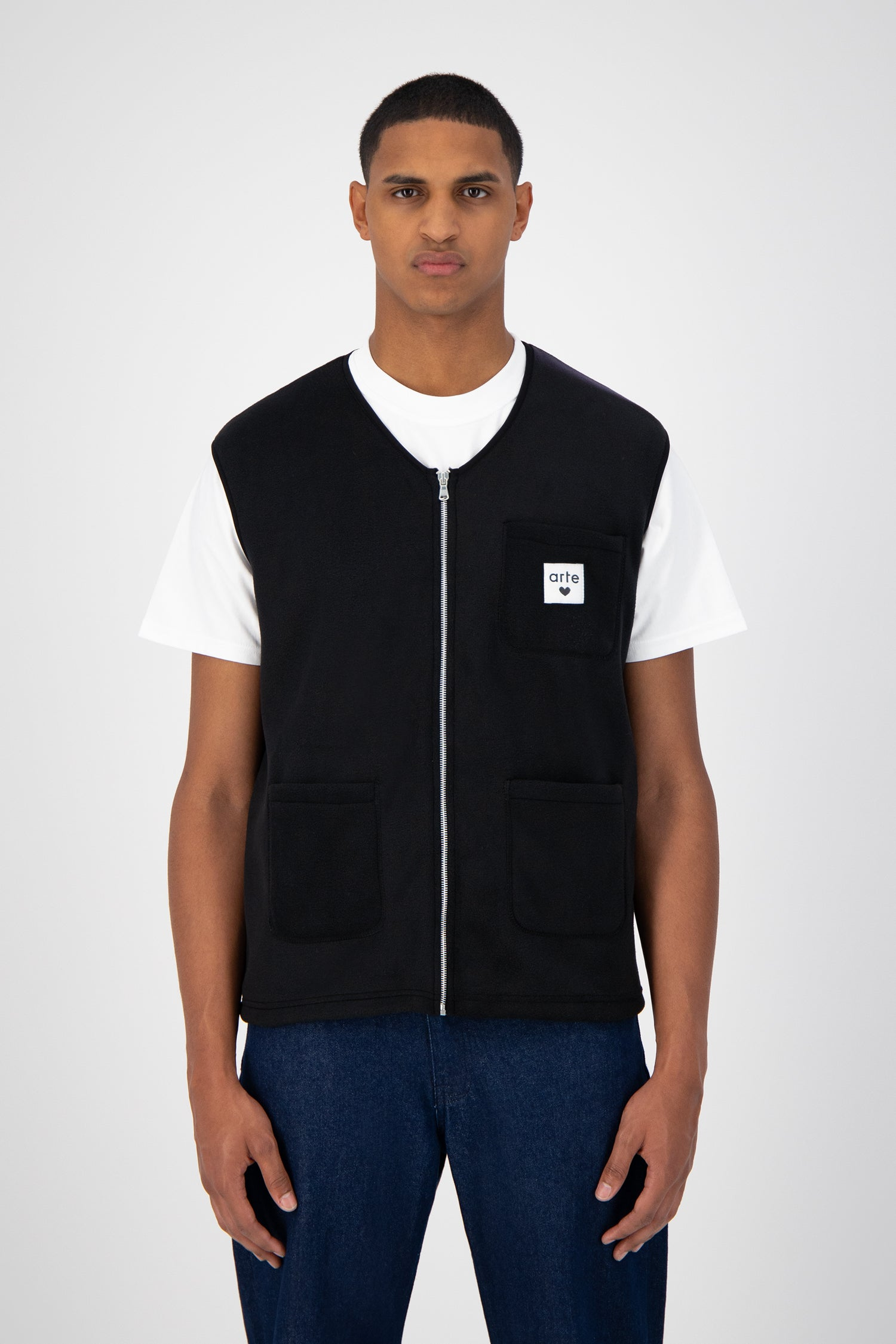 Victor Zipped Vest - Black